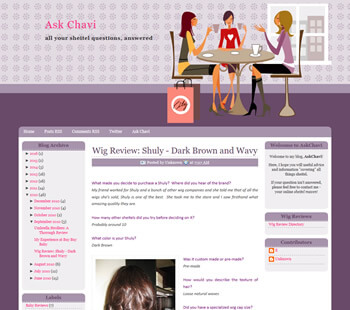 Screen from Ask Chavi services