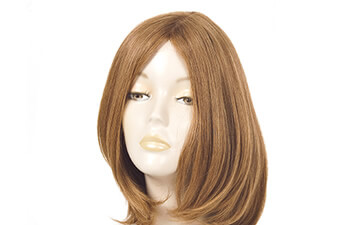 Brown wig on the mannequin head