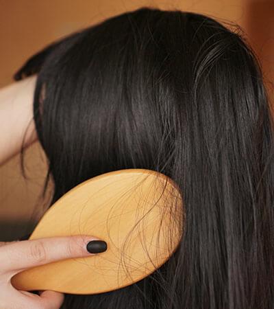 Brushing the wig