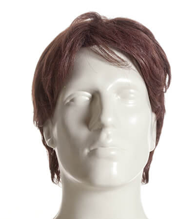 Male wig on the head of a mannequin